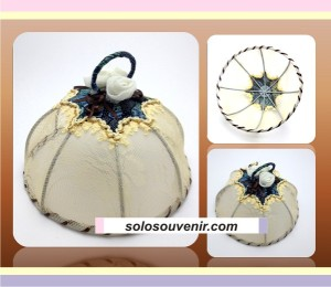 Souvenir Pernikahan Tudung Saji Batik Bunga