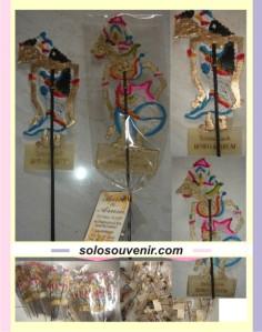 Souvenir Pernikahan Pembatas / Penjepit Buku Wayang Rama Shinta