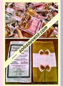 Undangan Pernikahan tempat tissu furing 2 warna