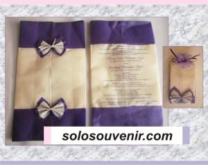 Undangan Pernikahan Tempat Tissu Furing